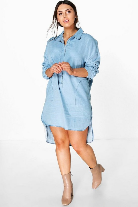 Plus Sinead Denim Shirt Dress