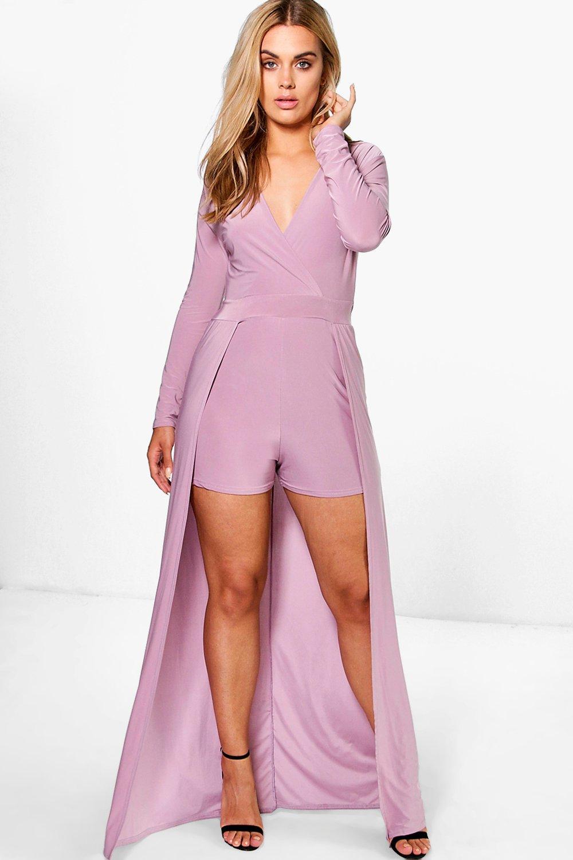 fa09dedff2fc Plus Harriet Long Sleeve Double Layer Playsuit