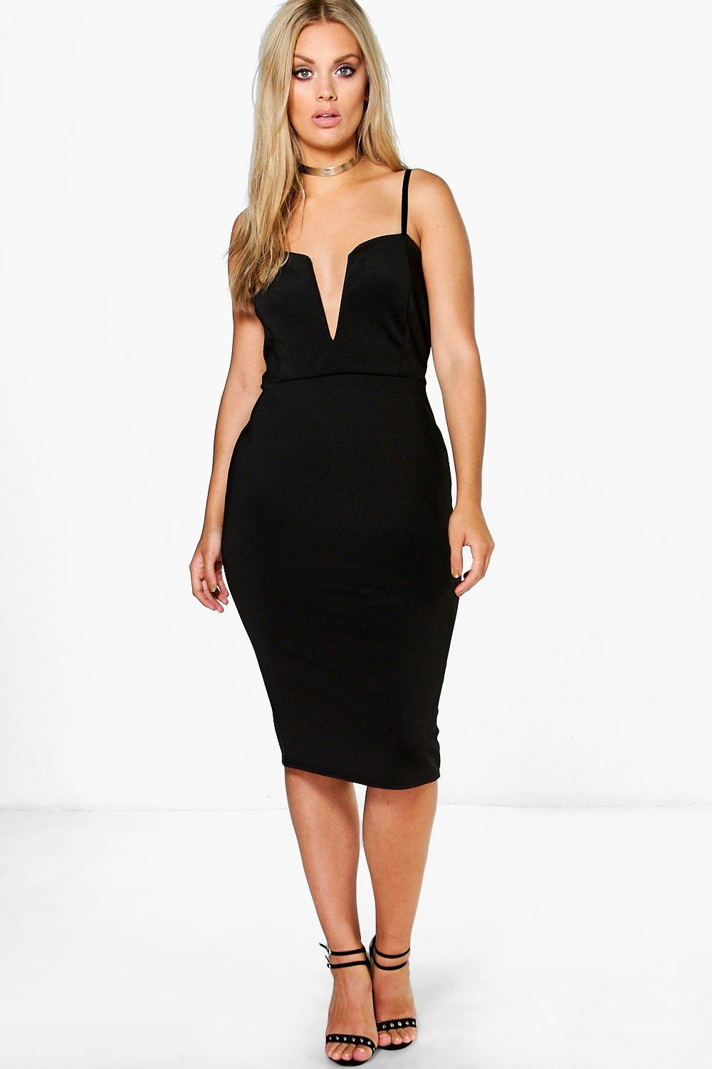 Plus Soraya Plunge Midi Dress