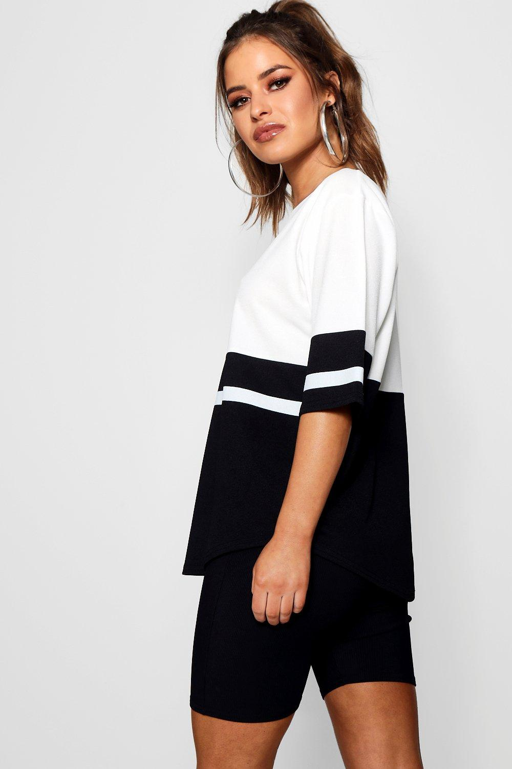 white Colour Shirt Oversized T Block Petite OXBqZx