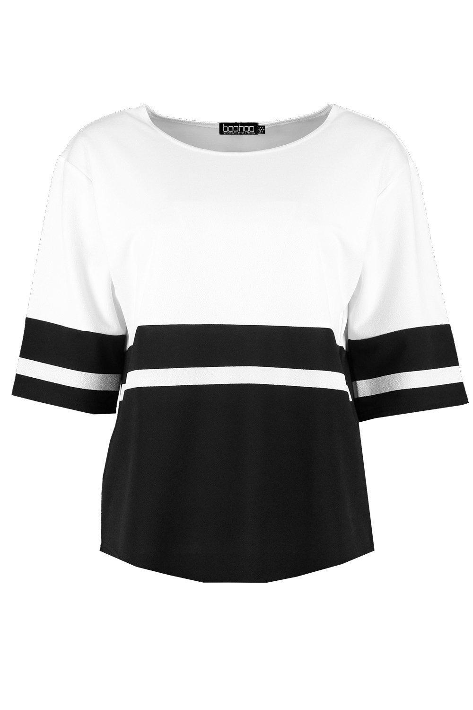 Block Colour T Petite Shirt white Oversized Oxgw5YpRq