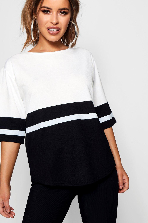 Petite Block Colour Oversized Shirt white T HrHAFaTf
