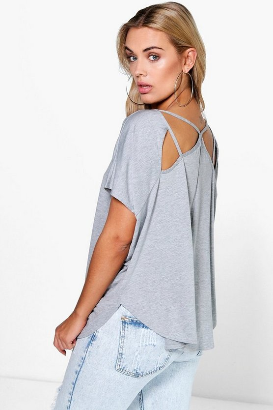 Plus Ceri Strappy Back Tee