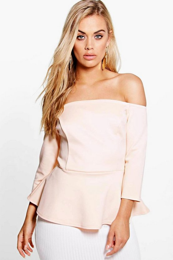 Plus Tamara Scuba Peplum Top