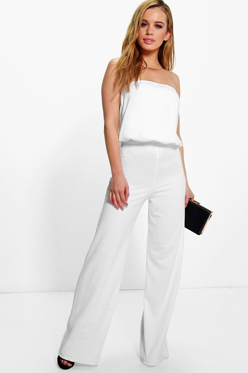 387ac65200f8 Petite Corinne Bandeau Crepe Jumpsuit. Hover to zoom