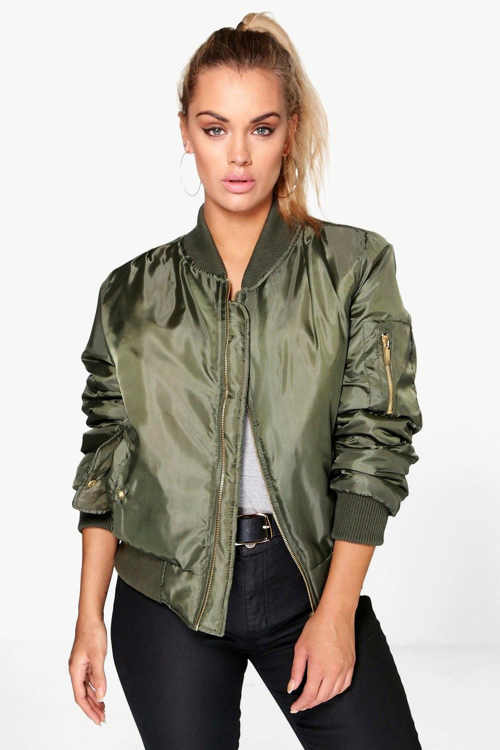 dda8d054acd64 Womens Khaki Plus MA1 Bomber Jacket. Hover to zoom