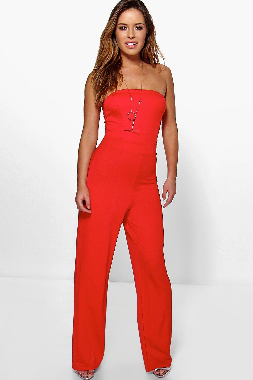 Petite Red Jumpsuit - Breeze Clothing