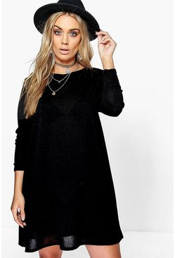 Black Plus  Swing Dress