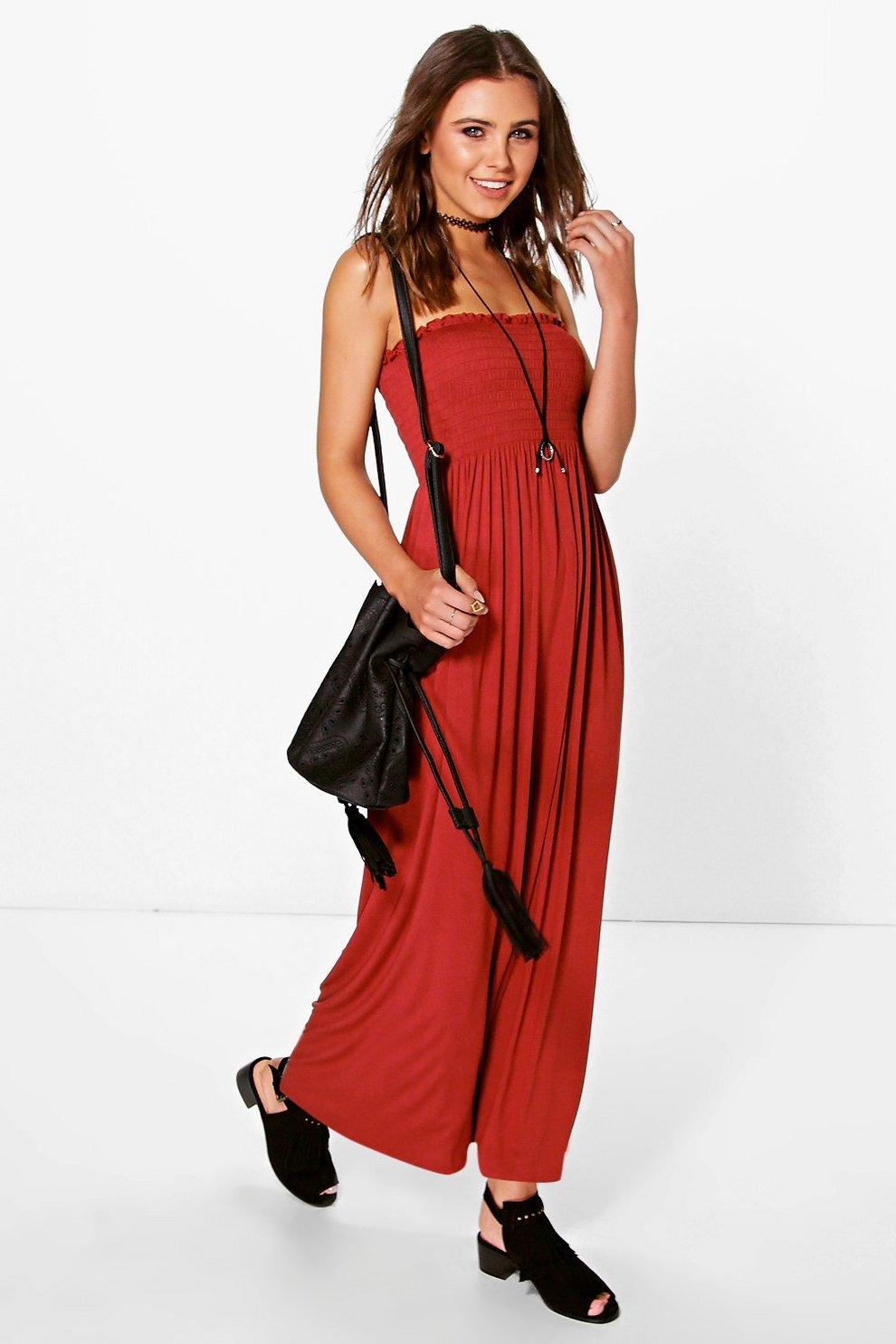 06d1b79e4b7 Petite Shirred Jersey Maxi Dress