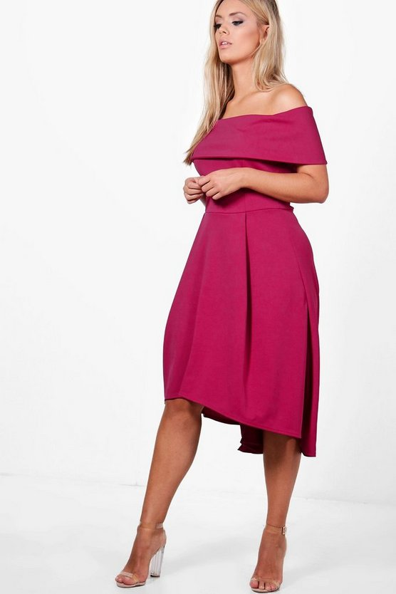 Cerise Plus  Double Layer Midi Dress