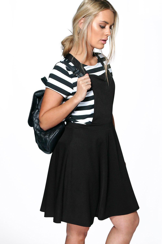 Plus Elle Pinafore Skater Dress | Boohoo