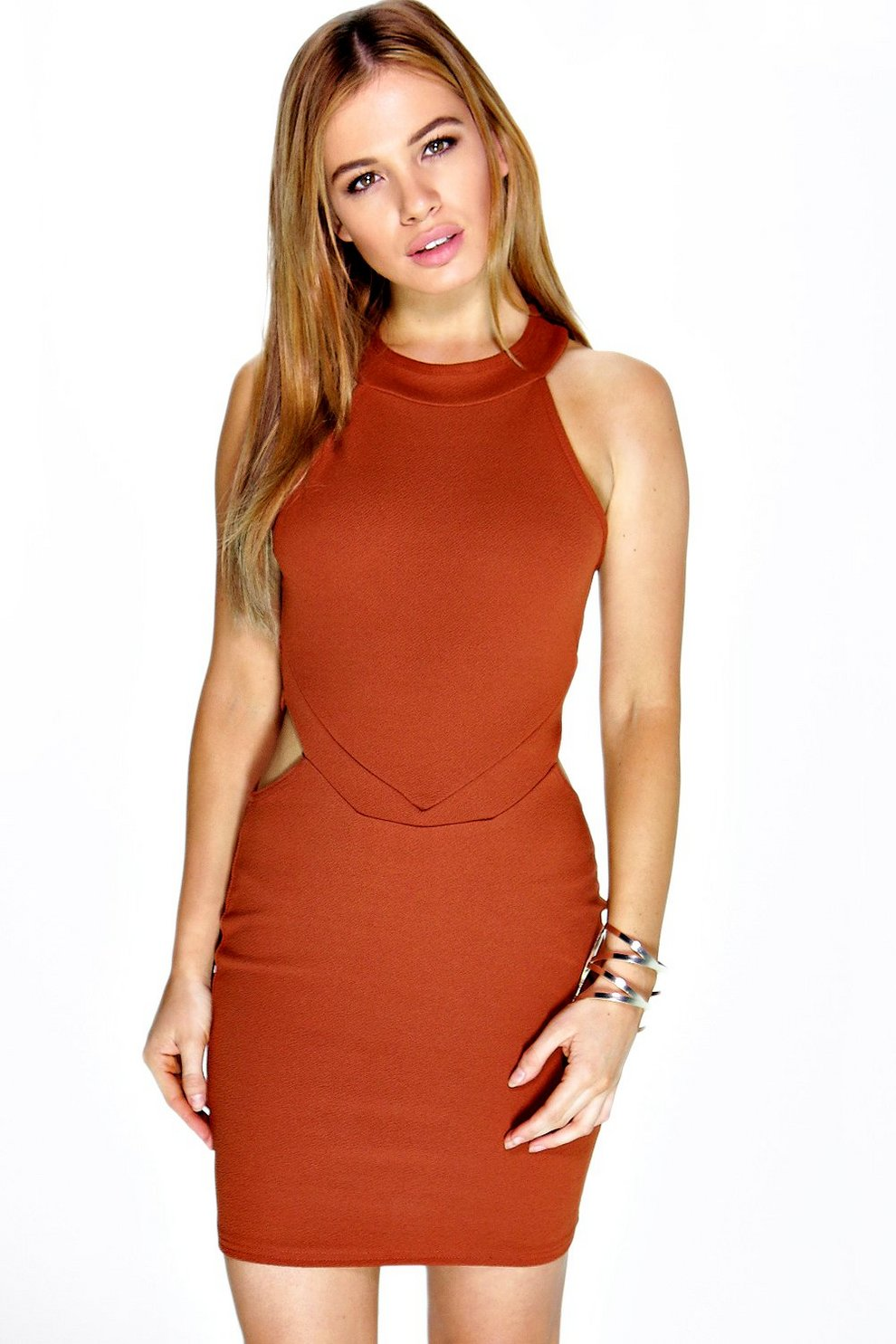 Cut Dress Out Neck Petite High Bodycon f6by7gYv