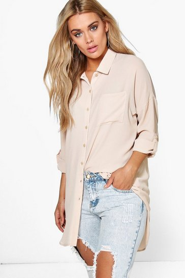 Womens Stone Plus  Oversized Shirt
