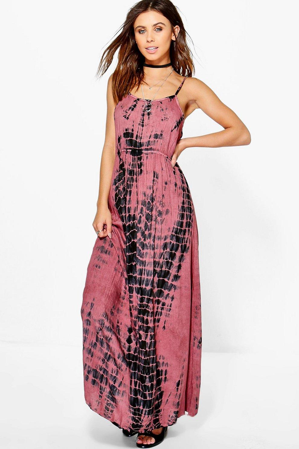 a9b31276622 Womens Multi Petite Charlotte Coin Back Tie Dye Maxi Dress