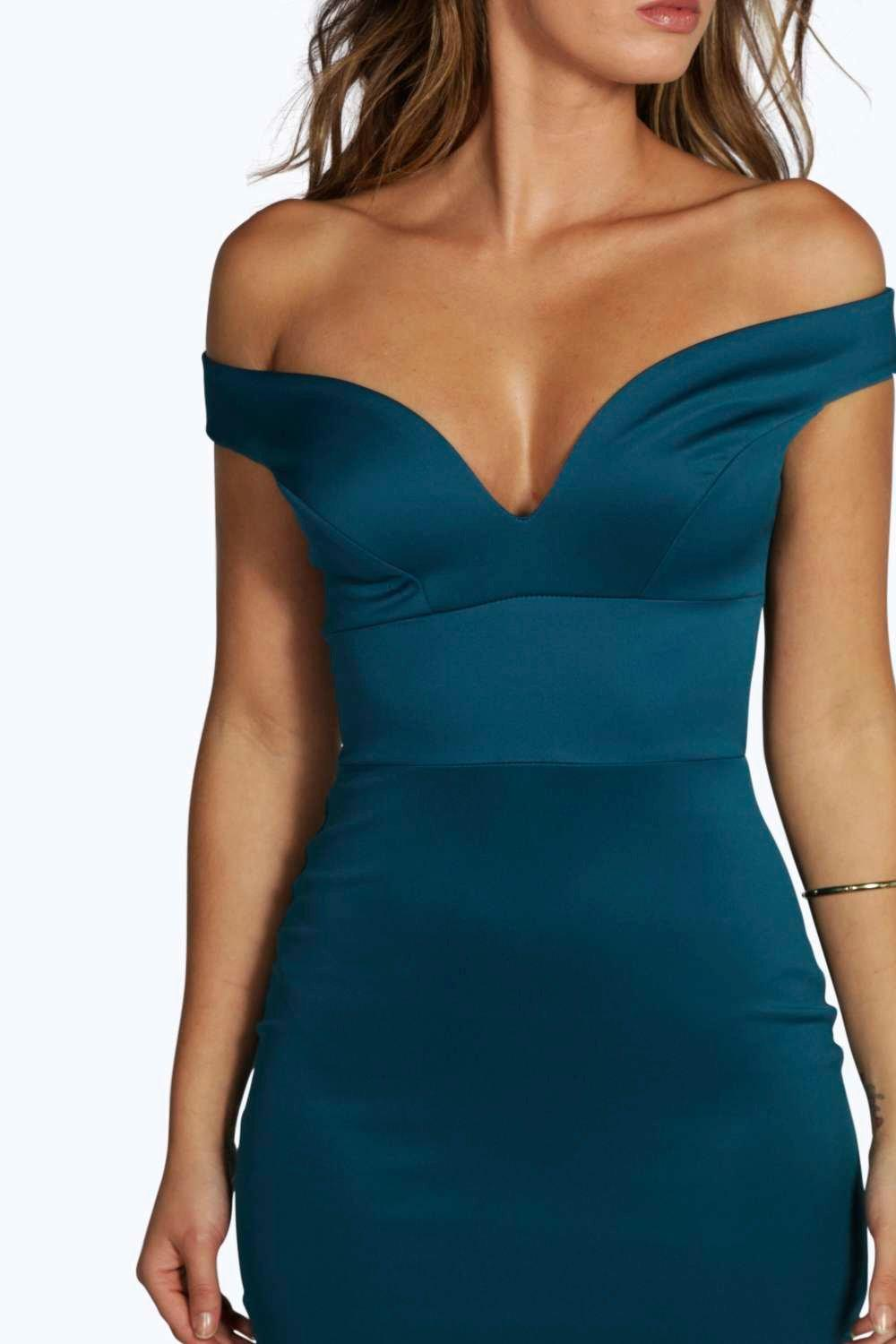eed43ede83d93 Boohoo-Womens-Petite-Nisha-Off-The-Shoulder-Dress thumbnail