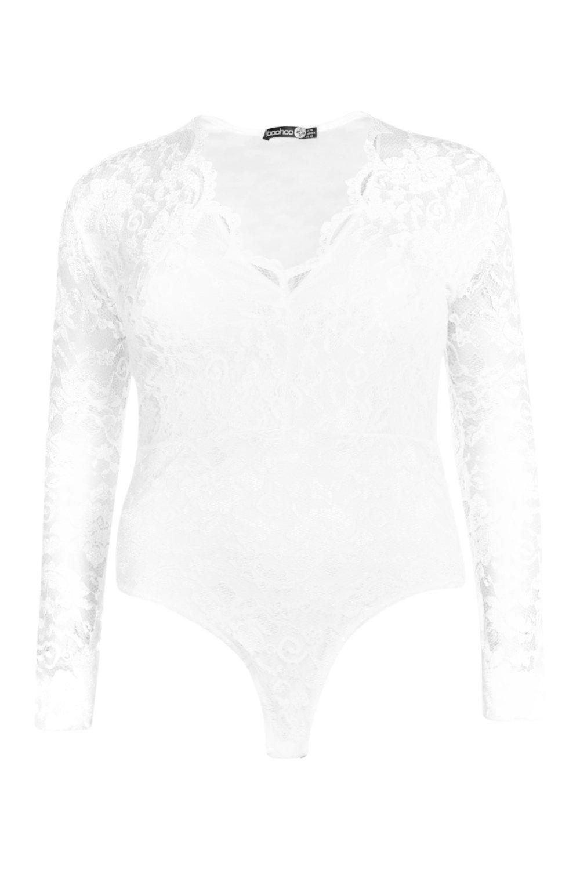 Boohoo-Womens-Plus-Lace-Long-Sleeved-Bodysuit