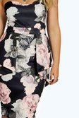 d305d404863 ... Plus Becky Floral Peplum Midi Dress alternative image