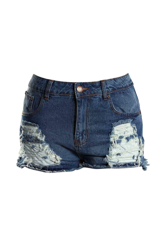 strappi pantaloncini taglia e con Jeans forte 6q5Hn144Zx