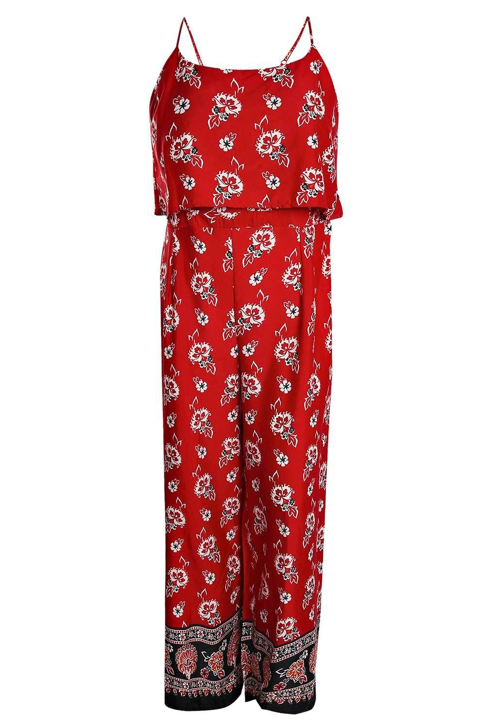 Printed Jumpsuit Plus Size Julia Plus