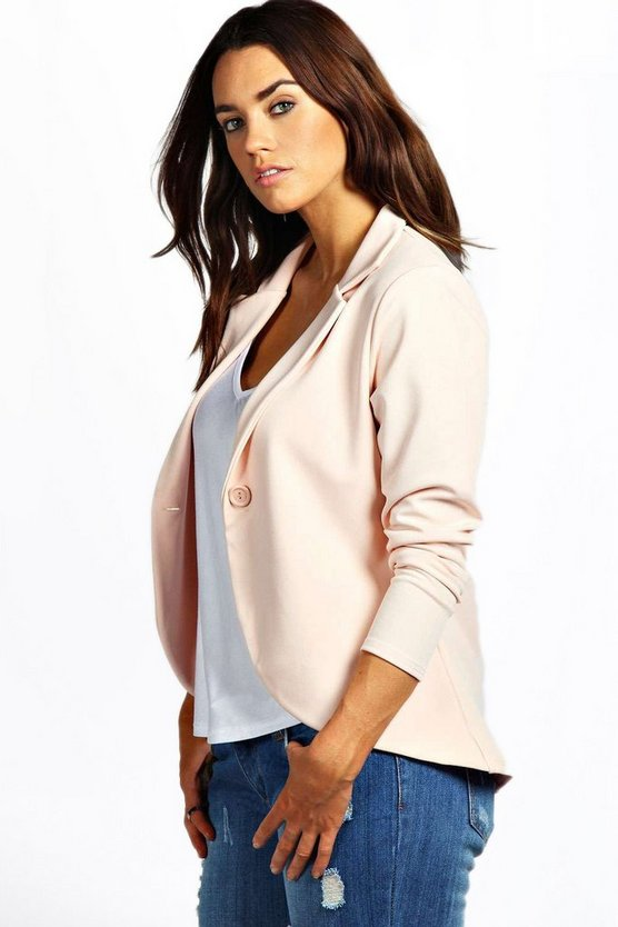 Plus  One Button Ponte Blazer