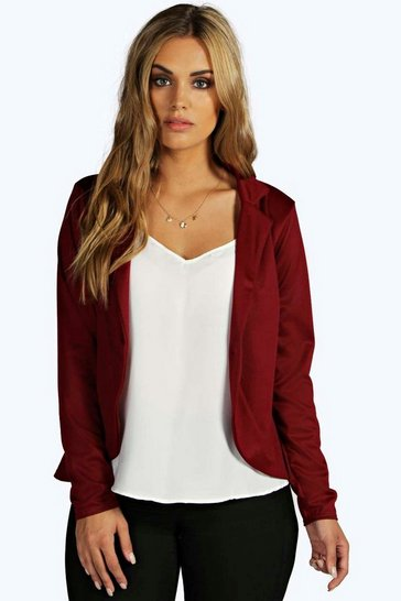 Wine Plus  One Button Ponte Blazer