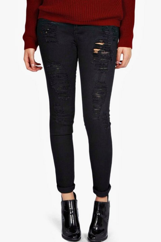 Plus jean skinny stretch taille haute