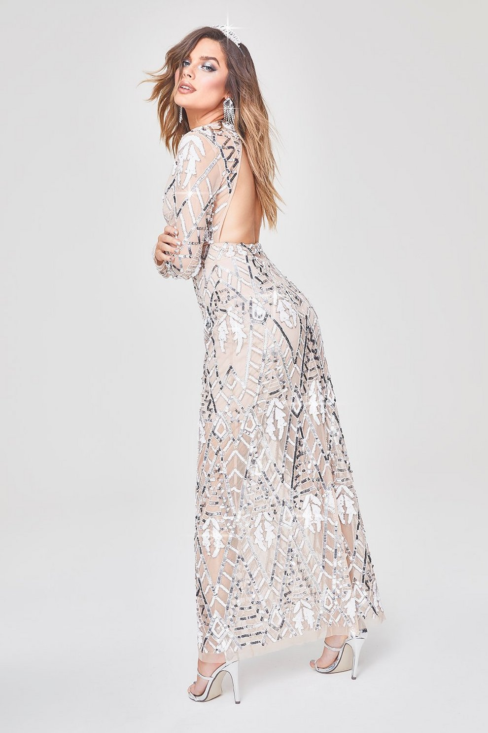 a42da989 Premium Hand Embellished Cut Out Back Maxi Dress | Boohoo