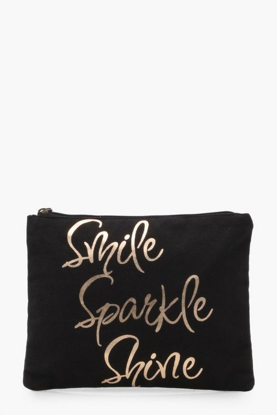 Smile Sparkle Shine Makeup Bag