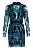 2b7d698b ... Womens Emerald Premium Isabelle Open Back Sequin Dress alternative  image ...