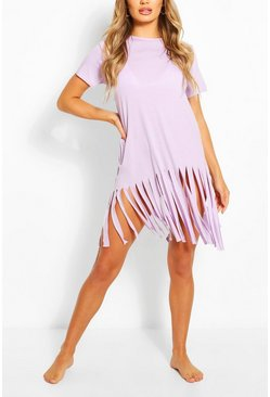 Lilac Tassel Beach Dress