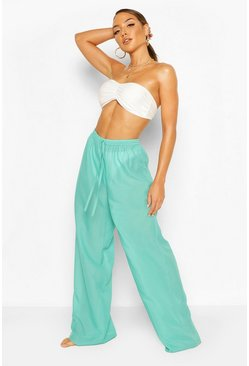 Solid Colour Beach Trousers, Jade