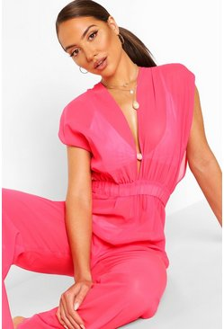 Pink Beach Jumpsuit