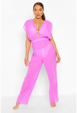 Purple Beach Jumpsuit