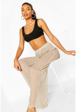 Cream Dobby Beach Trousers