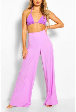 Lilac Wide Leg Beach Pants