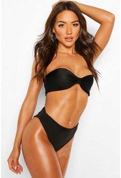 Black Mix & Match High Waist Bikini Brief