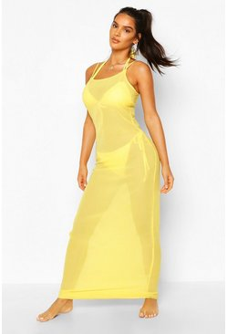 Yellow Strappy Maxi Beach Dress