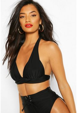 Black Mix & Match Fuller Bust Push Up Top