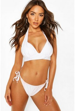 White Mix & Match Fuller Bust Push Up Top