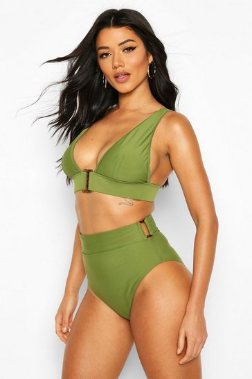Khaki Mix & Match Buckle Control High Waist Brief