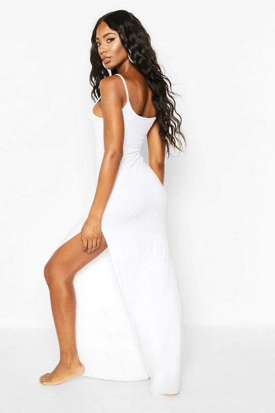 Jersey Split Leg Maxi Beach Dress