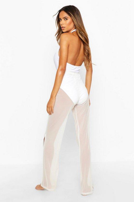 Mesh Split Leg Beach Trousers