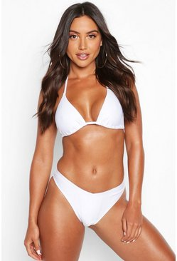 White Mix & Match Triangle Bikini Top