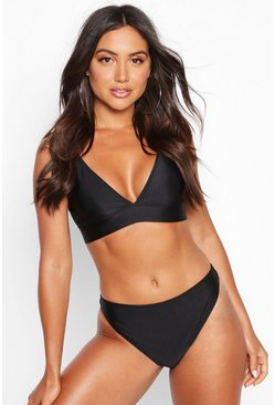Womens Black Mix & Match Cheeky Bum Bikini Brief