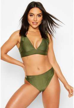 Khaki Mix & Match Cheeky Bum Bikini Brief