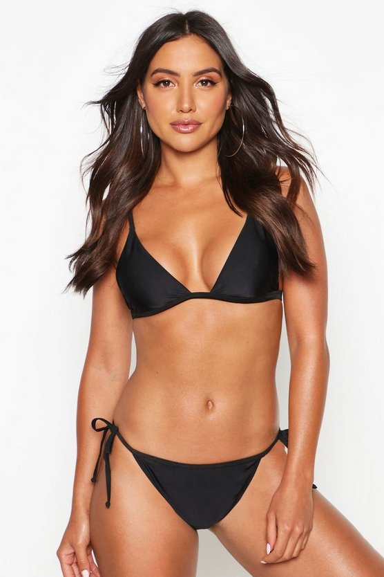 Womens Black Mix & Match Itsy Bitsy Bikini Top