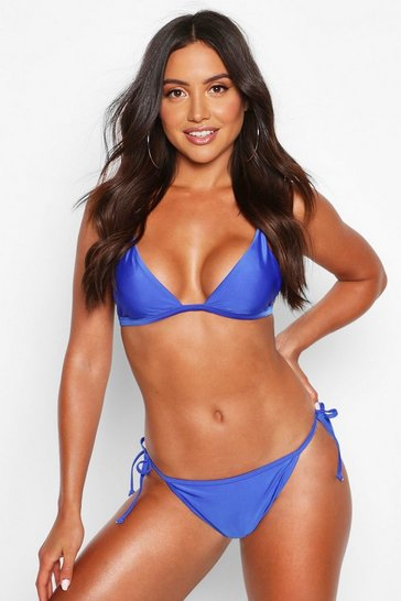Blue Mix & Match Itsy Bitsy Bikini Top