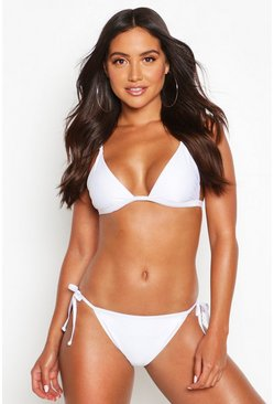 White Mix & Match Itsy Bitsy Bikini Top