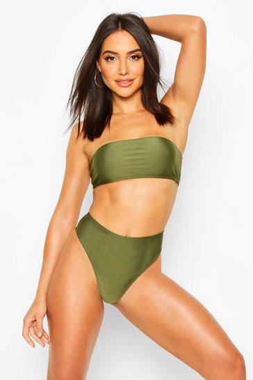 Khaki Mix & Match High Waisted Bikini Brief