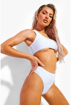 White Mix & Match High Waisted Bikini Brief